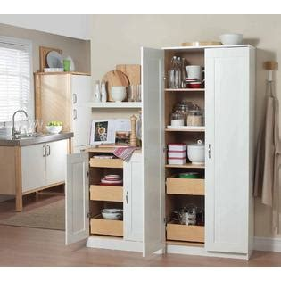 Kmart Kitchen Cabinets by Homestar White Kitchen Pantry Cbnt W Drawers Home