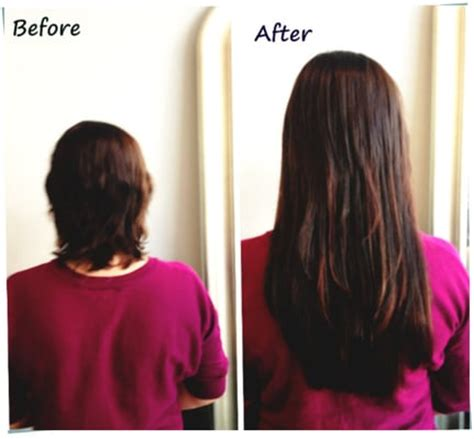 hair fusion applied to short hair before and after beautiful and sexy long hair with great lengths hair