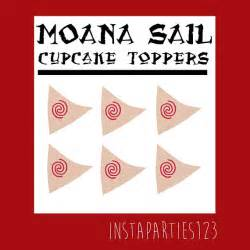 digital red swirl moana sailboat cup cake topper instant download printable sail polynesian boat
