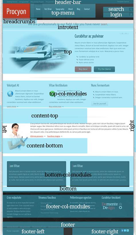 design menu in joomla procyon joomla 1 6 template by demente design themeforest