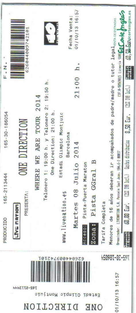 entradas de one direction entradas one direction barcelona mejor precio unprecio es