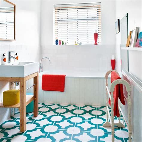 geometric bathroom ranges bathroom space white compact bathroom with aqua geometric floor tiles