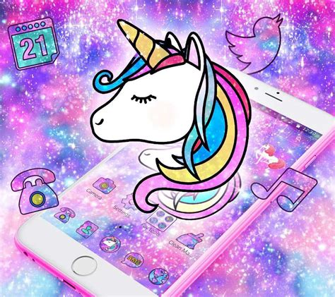 themes beta unicorn galaxy unicorn shiny glitter theme for android apk download