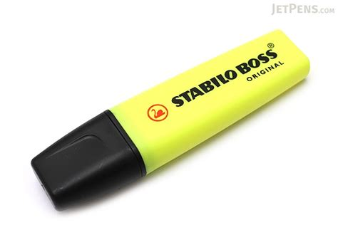 Current Color Trends by Stabilo Boss Original Highlighter Pen Yellow Jetpens Com