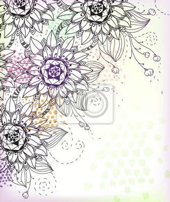 immagini fiori disegnati carta da parati vettoriale con fiori disegnati a mano