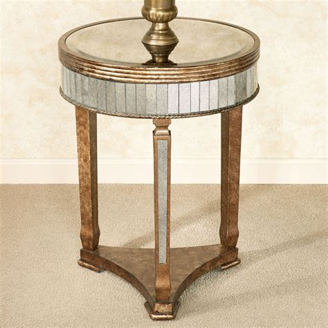 Bella Mina Antiqued Mirrored Accent Table