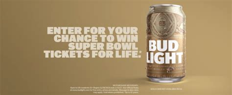 bud light gold can find a golden bud light can and win bowl tickets for