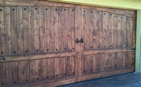 rustic garage door home