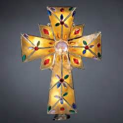 cross tree topper tree topper grand sales lighted capiz cross with