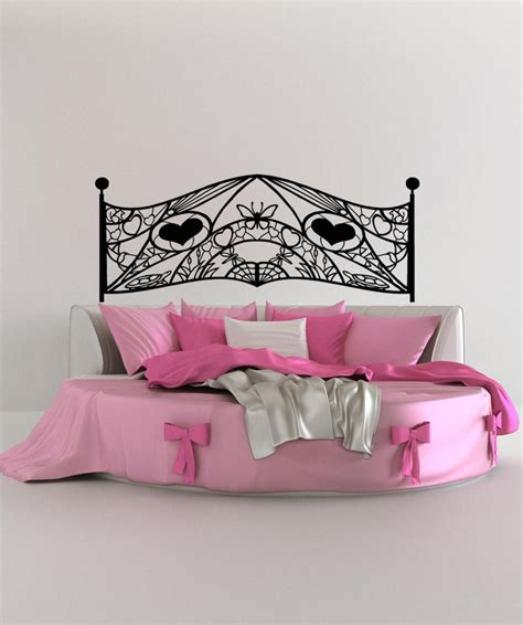 vinyl headboard wall decal vinyl wall decal sticker feminine headboard os aa1152