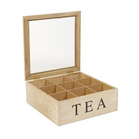 5 6 or 9 compartments wooden tea box hinged lid tea bag