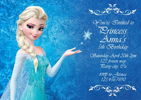 frozen printable greeting card frozen birthday invitation disney s frozen by