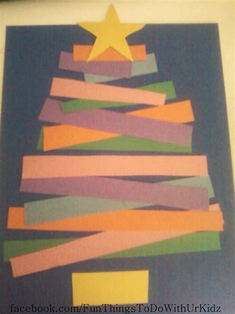 Things To Make With Construction Paper - tree made from construction paper and glue things