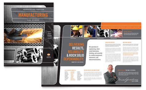 engineering brochure templates free manufacturing engineering brochure template design