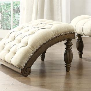 bellagio beige linen button tufted curved chaise lounge with ottoman oxford creek transitional victorian beige linen button