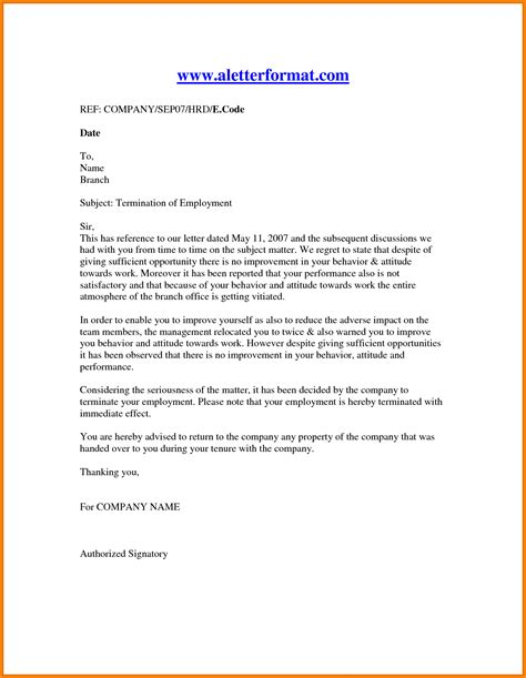 Reference Letter For Terminated Employee Sle Sle Reference Letters For Employee Vendor Contract Template