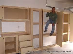 Building Wood Shelving Units by Built In Garage Cabinets Build A Wooden Box
