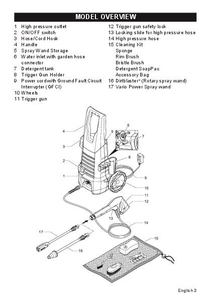 Karcher Pressure Washer K 2 360 k 228 rcher k 2 360 electric power high pressure washer owners