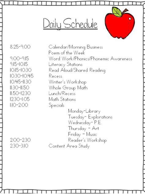 printable daily schedule for kindergarten mrs wills kindergarten schedule can i tweak it and make