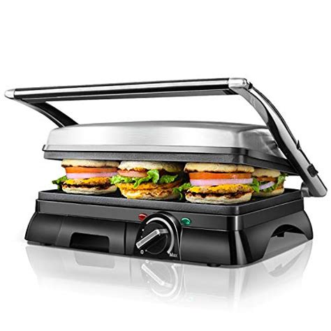 aigostar sandwich aigostar samson 30maz multifunctional panini press grill sandwich maker 2 large non stick