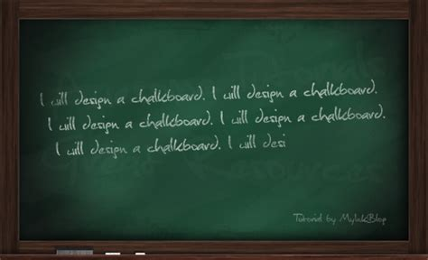 chalkboard typography tutorial photoshop design a realistic chalkboard in photoshop drawing
