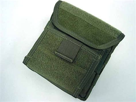 airsoft molle velcro combat admin map id gear pouch od