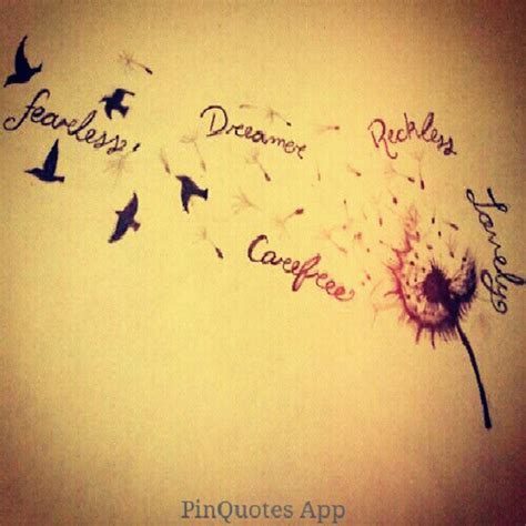 bird tattoo quotes tumblr pinquotes tattoo dandilion birds quotes me