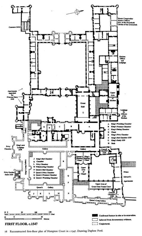 hton court palace floor plan hton court palace first floor plan under henry viii
