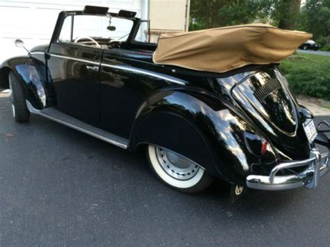 sell   volkswagen beetle karmann kabriolett rare early vw convertible  lancaster