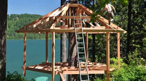 hexagon tree house plans building a hexagon shaped treehouse a time lapse the