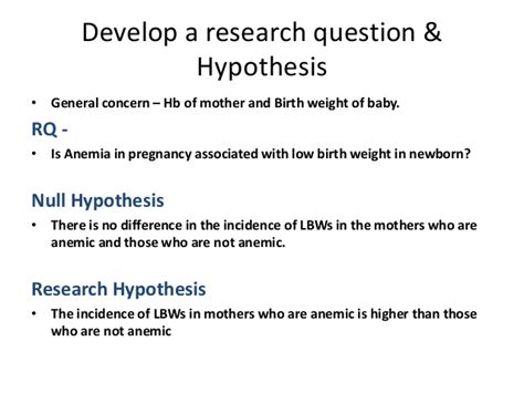 what is a hypothesis in a research paper hypothesis exles alisen berde