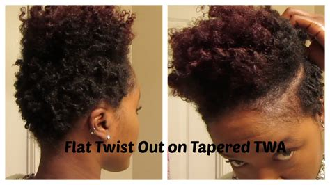 twists on twa with tapered sides flat twist out on tapered twa jen naturallyhypp youtube