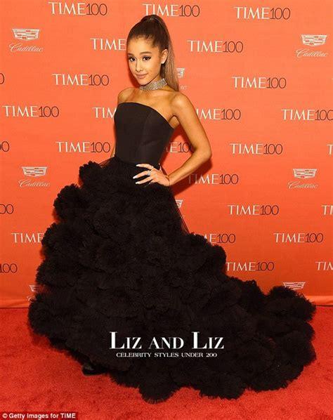Grande Black grande black strapless ruffled gown