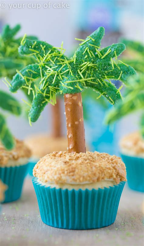 tree cake recipes palm tree cupcakes your cup of cake