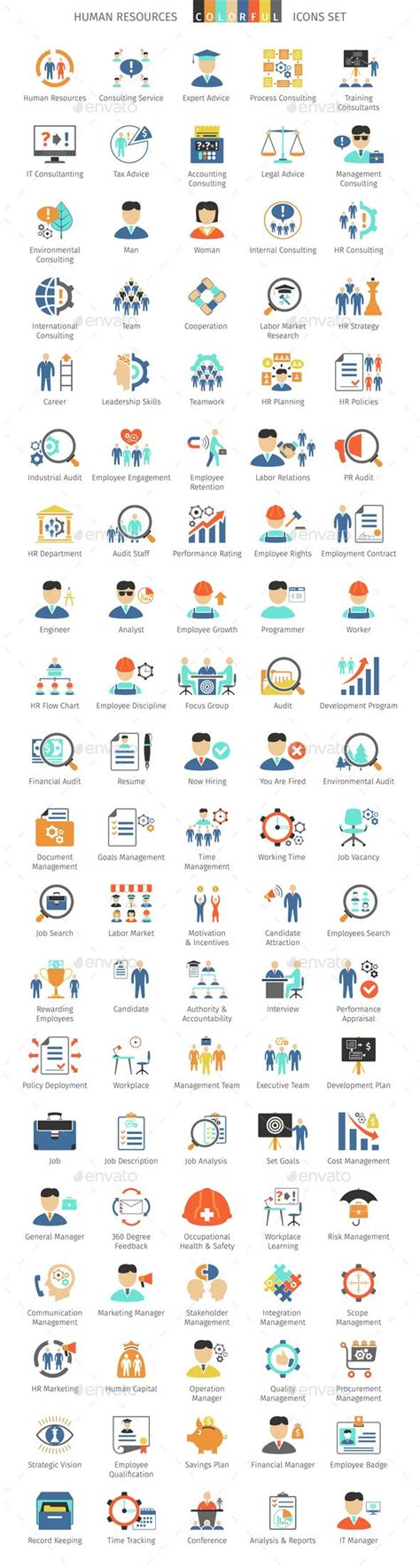 A 1 Search Human Resources Colorful Icons Human Resources Icon Design And Student Centered