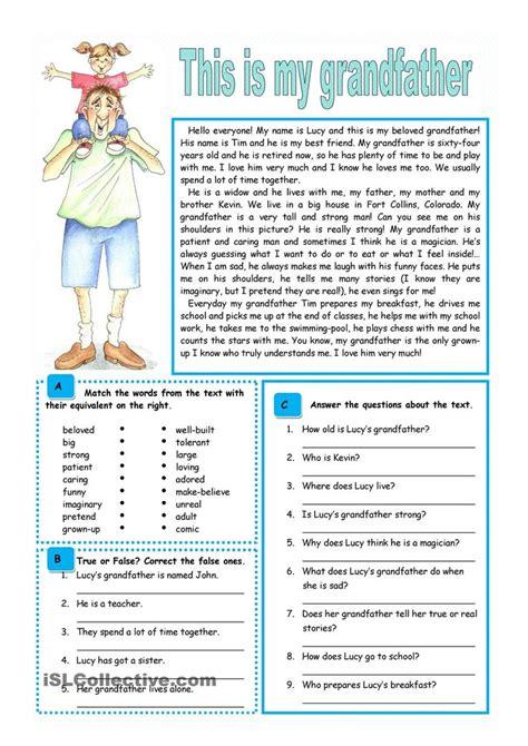 22 best images about esl level 1 reading comprehension on