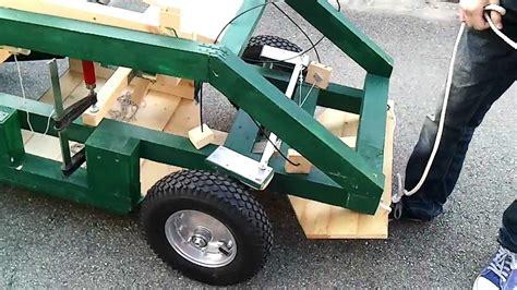 Kinderauto Eigenbau by Zweiter Lenktest Mit Selbstgebautem Elektroauto