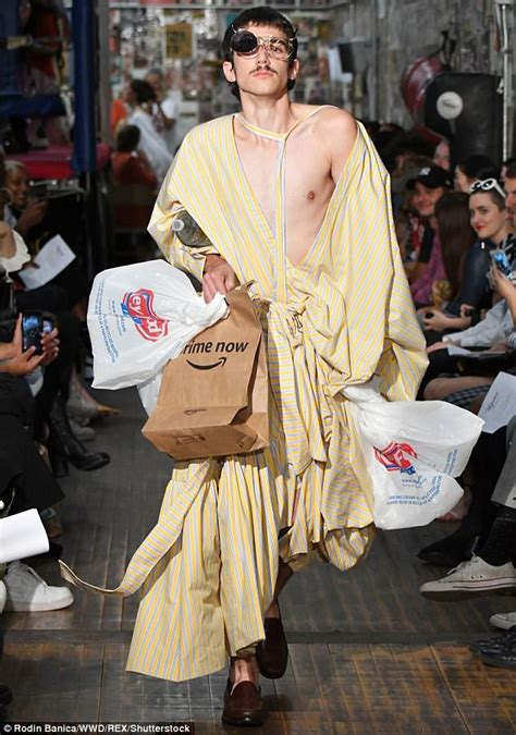 Fashion News Weekly Up Bag Bliss 6 by Nyfw Model Walks The Runway Holding Garbage Daily Mail