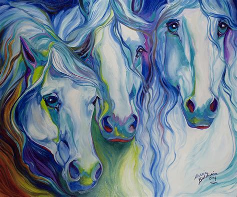imagenes figurativas three spirits equine painting by marcia baldwin