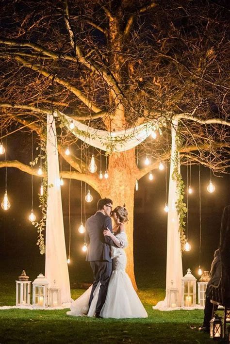 night wedding backdrop ideas  lights   day