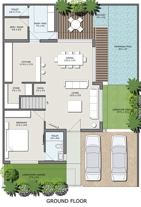 bungalow ground floor plan 5220 sq ft 4 bhk 4t villa for sale in rk construction