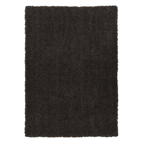 Ottomanson Contemporary Solid Dark Grey 6 Ft 7 In X 9 Ft Solid Grey Area Rug