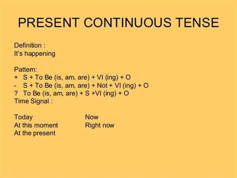 pattern past continuous tense simple present