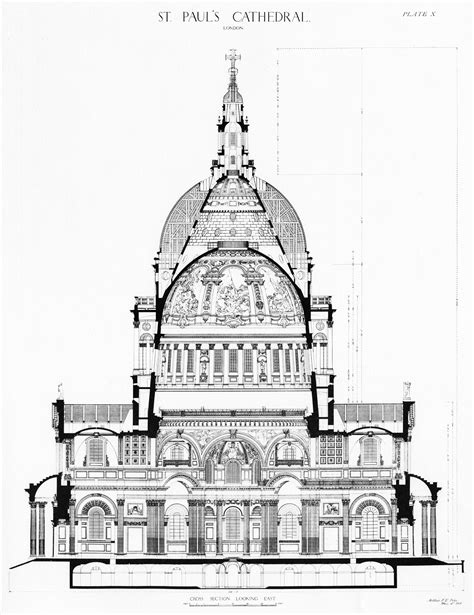 cathedral section 5 designs for the dome c 1687 1708 st paul s cathedral