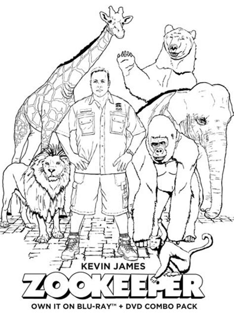 coloring page of zookeeper zookeeper print and colour in sheets huffpost uk