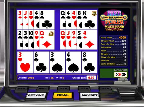 play  draw poker video slot   videoslotscom