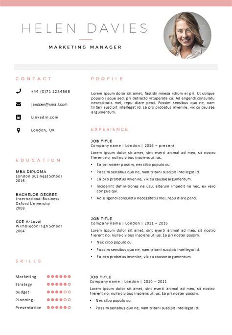 cv template london  sumo cv templates resume