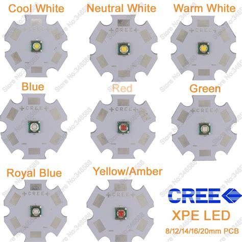 Emitter Led Cree Xpe Yellow 5x 3w cree xpe xp e high power led emitter diode neutral white cool white warm white green