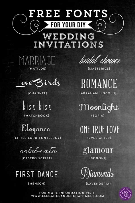 free fonts for diy wedding invitations wedding fonts - Beautiful Fonts For Wedding Invitations