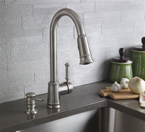 kitchen faucet with soap dispenser moen soap dispenser for a stylish bathroom